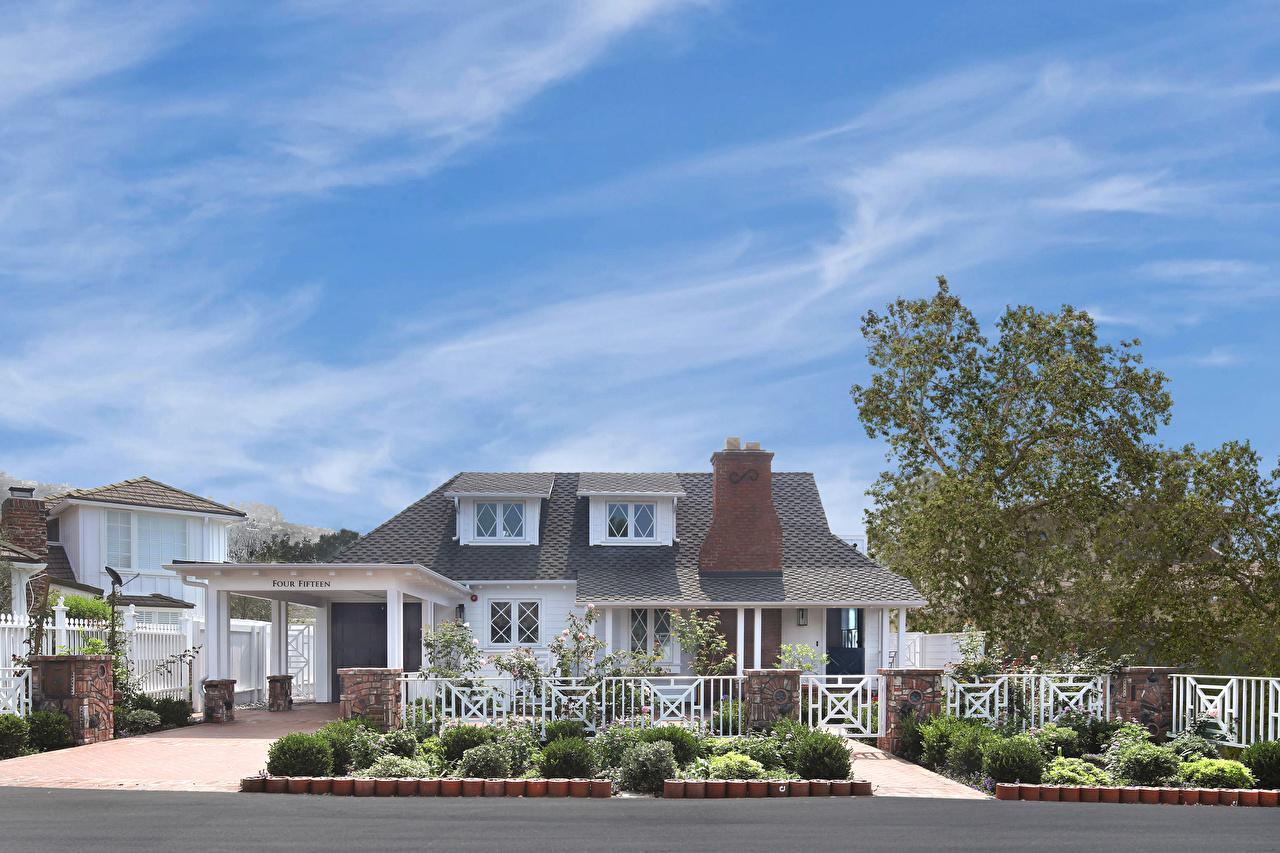 Картинки Калифорния штаты Laguna Beach Особняк Дома город дизайна калифорнии США америка Здания Города Дизайн
