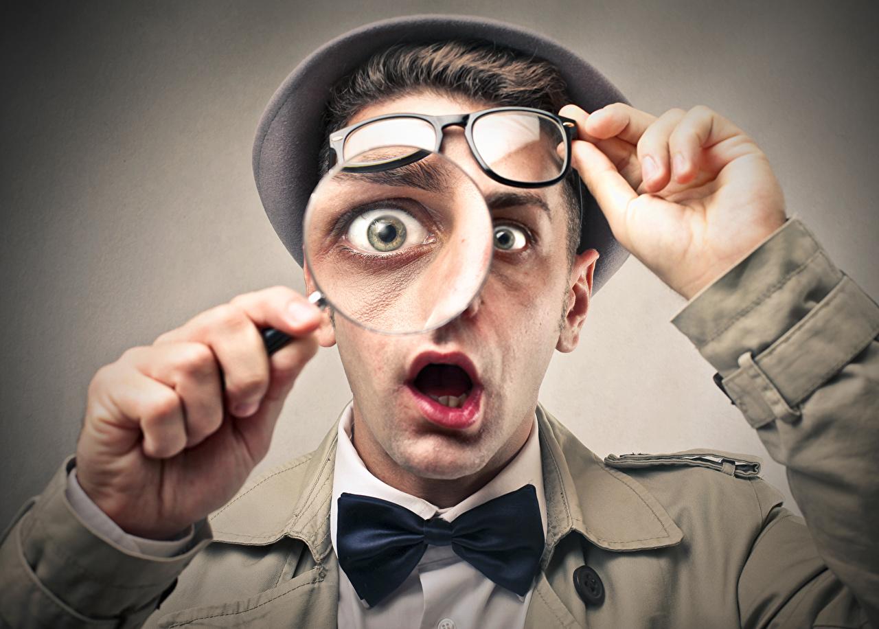 Обои для рабочего стола Глаза мужчина Лицо шляпе оригинальные очках Мужчины лица шляпы Шляпа Креатив креативные Очки очков