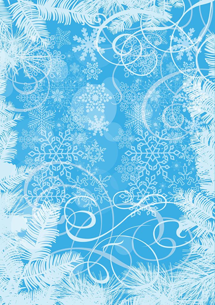 Картинки орнамент Новый год Снежинки Шаблон поздравительной открытки  для мобильного телефона Узоры Рождество снежинка