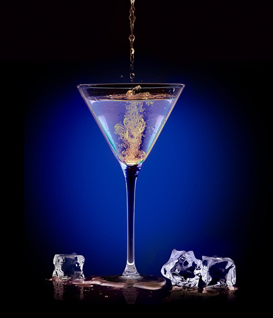 Картинки Алкогольные напитки Лед Пища Бокалы Коктейль льда Еда бокал Продукты питания