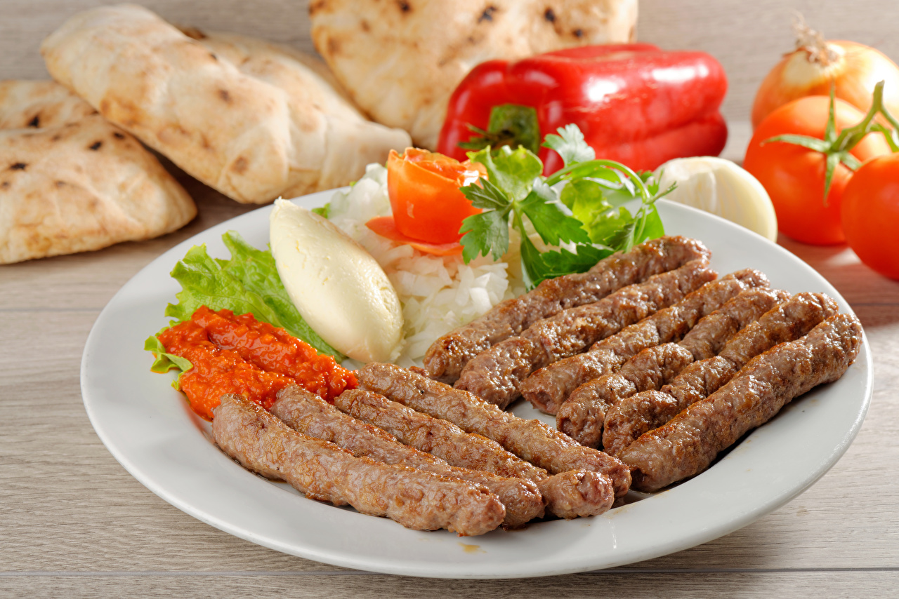 Фото Пища Овощи Тарелка Мясные продукты Еда Продукты питания