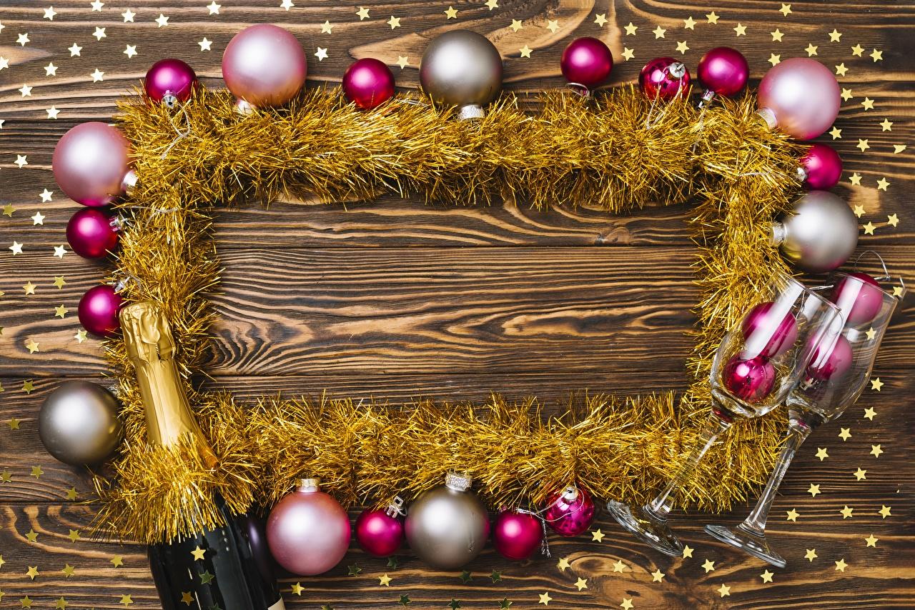 Картинки Новый год Шар Шаблон поздравительной открытки Рождество Шарики
