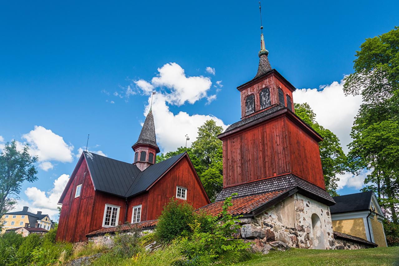 Фотография Церковь Финляндия Fagervik Church Храмы Города храм город