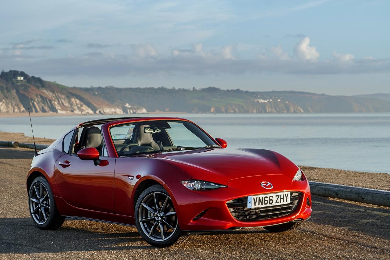Обои для рабочего стола Mazda 2017 MX-5 RF красных Металлик автомобиль Мазда Красный красные красная авто машина машины Автомобили