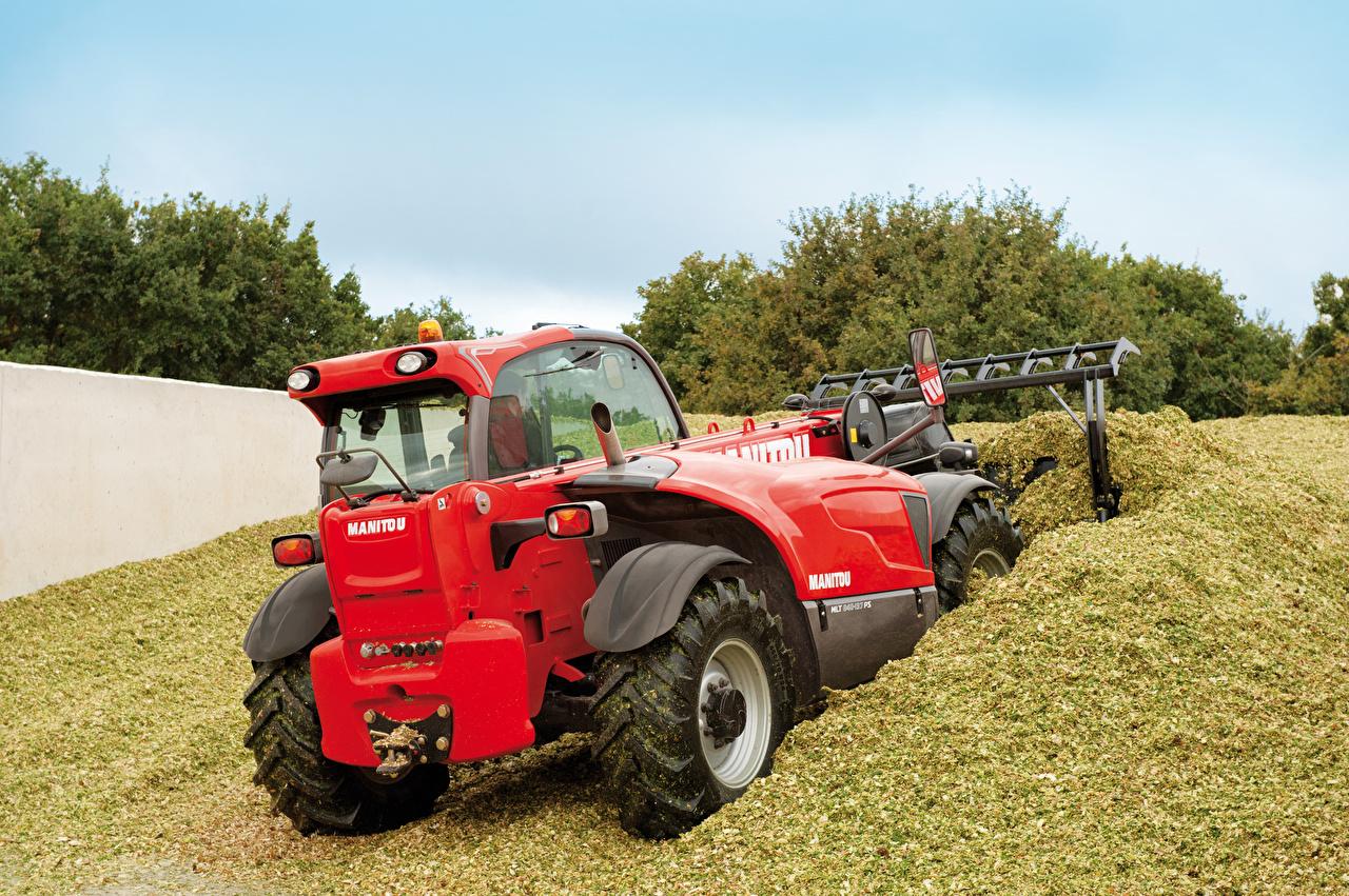 Картинка Трактор 2012-16 Manitou MLT 840-137 PS Красный вид Сзади