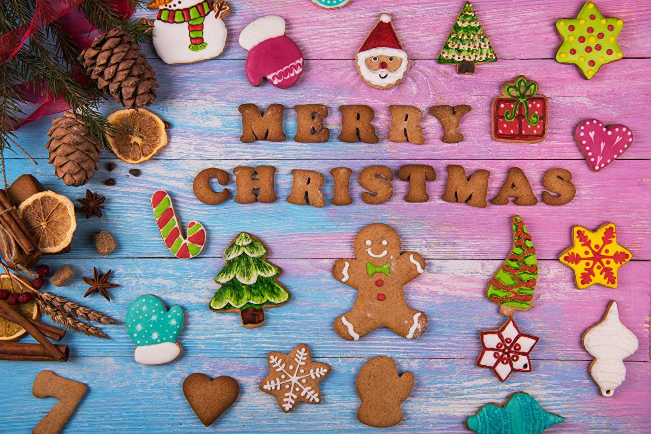 Фото Рождество Варежки Санта-Клаус Новогодняя ёлка Пища Шишки Печенье Доски Дизайн Новый год рукавицы Елка Дед Мороз Еда Продукты питания