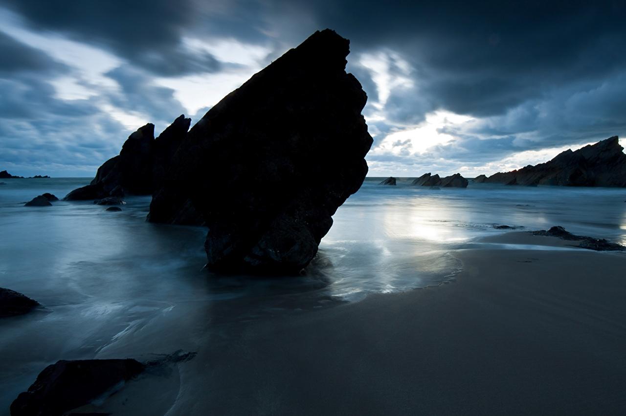 Фото пляжи Море Природа берег Пляж пляжа пляже Побережье