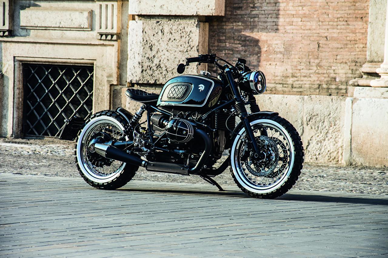 Картинка BMW - Мотоциклы 2018-20 Ares Design Scrambler Черный Мотоциклы Сбоку БМВ черная черные черных мотоцикл