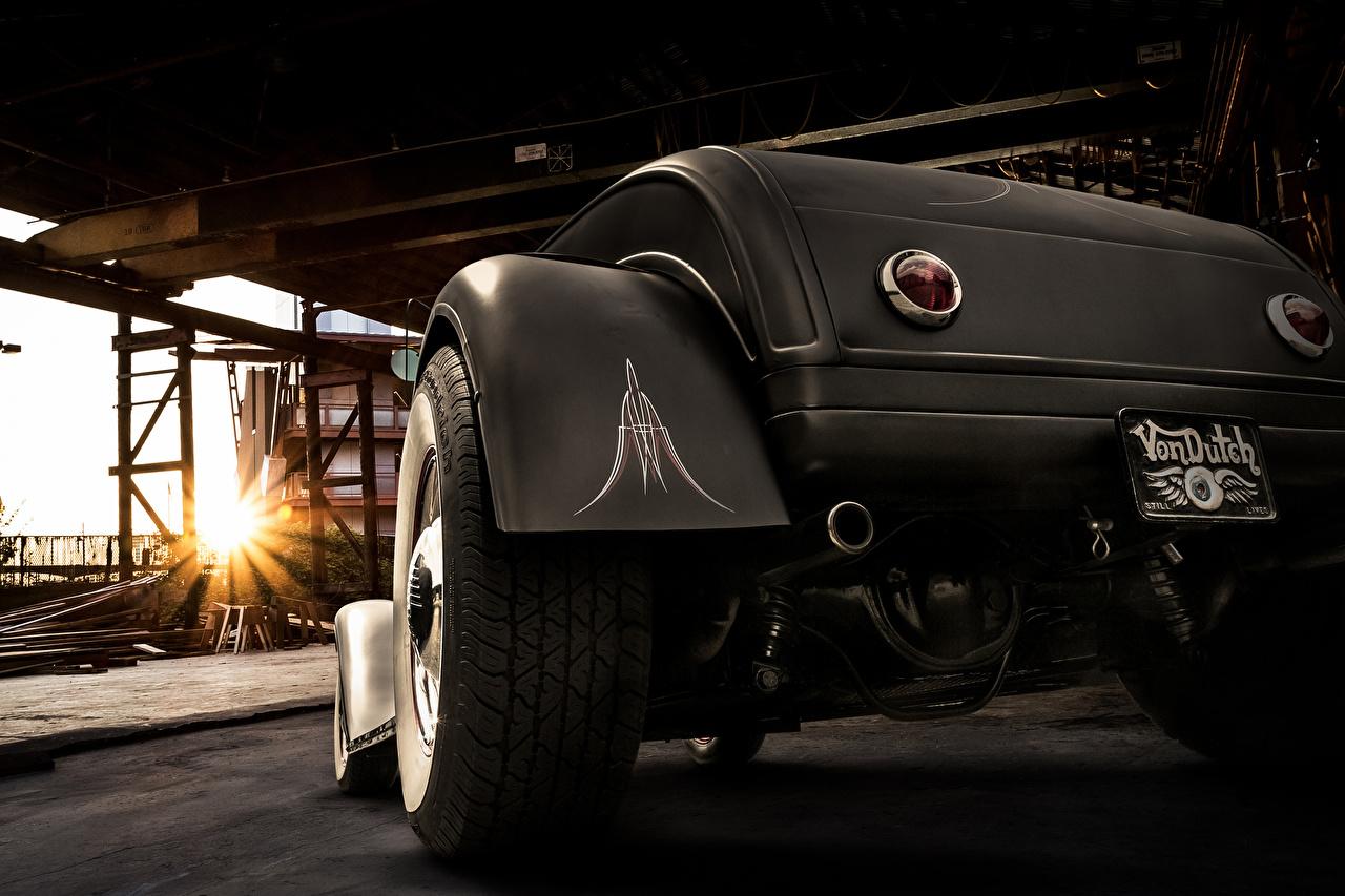 Обои Ford 1929 roadster Родстер Колесо вид Автомобили вблизи Форд Авто Сзади Машины Крупным планом
