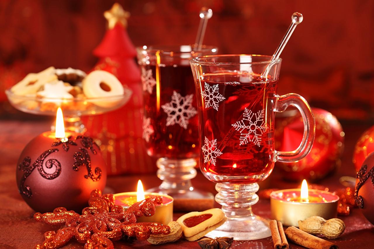 Обои Рождество снежинка Корица Пища чашке Свечи Печенье Напитки Новый год Снежинки Еда Чашка Продукты питания