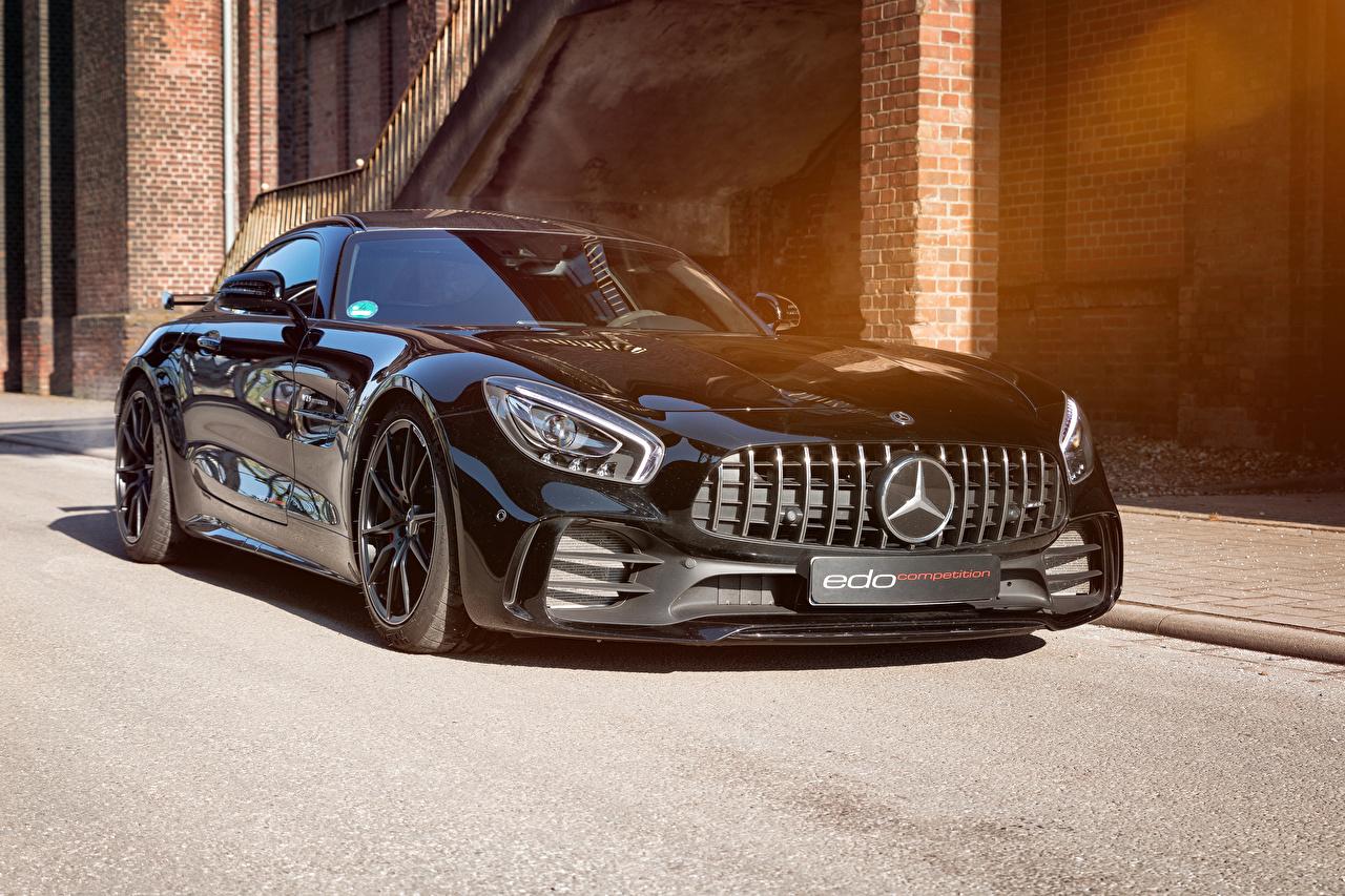 Обои Mercedes-Benz 2018-19 Edo Competition AMG GT R Черный Машины Металлик Мерседес бенц Авто Автомобили