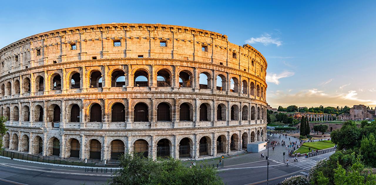 Картинки Рим Колизей Италия Арка Города арки город