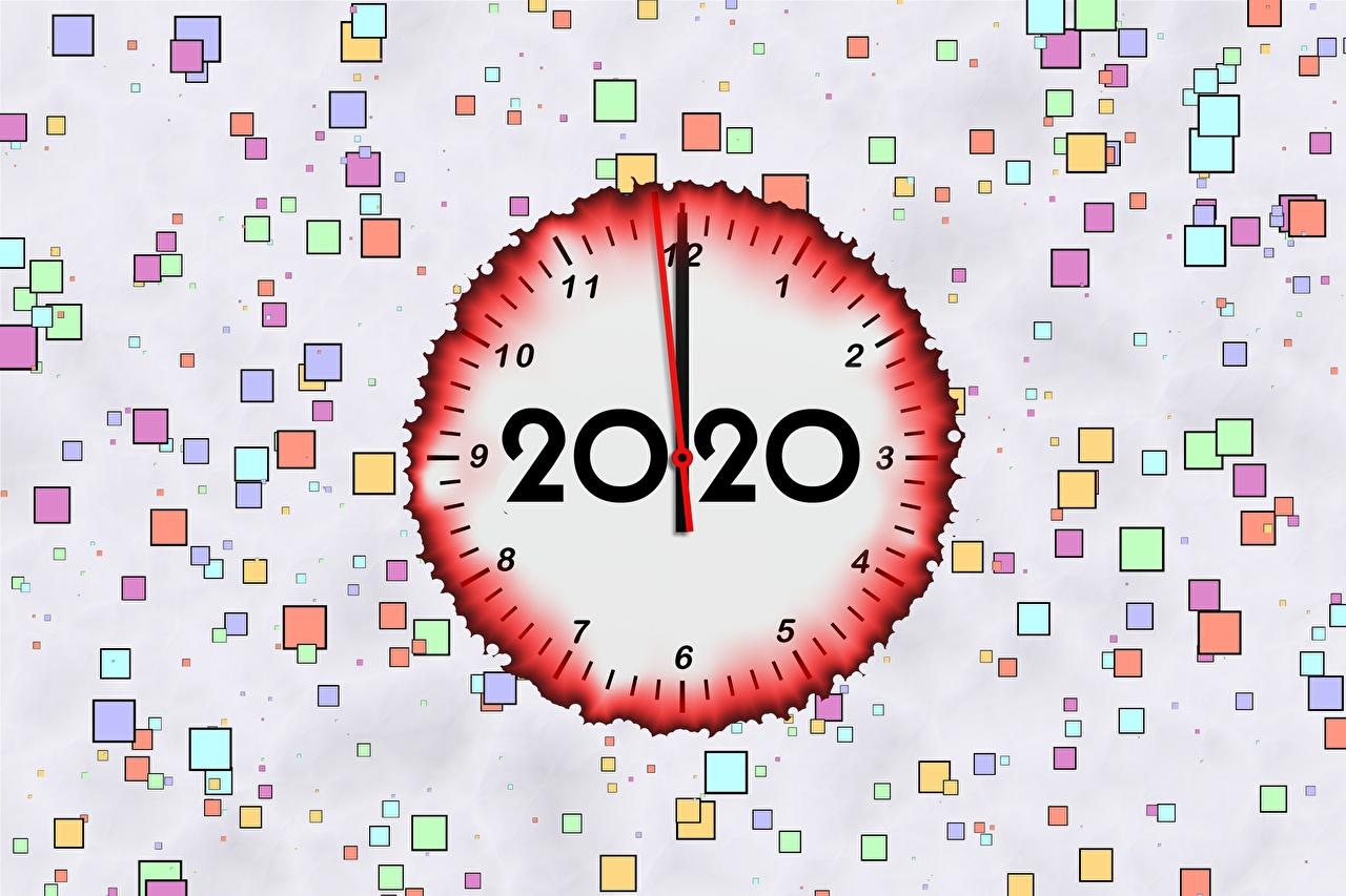 Картинка 2020 Новый год Циферблат Рождество