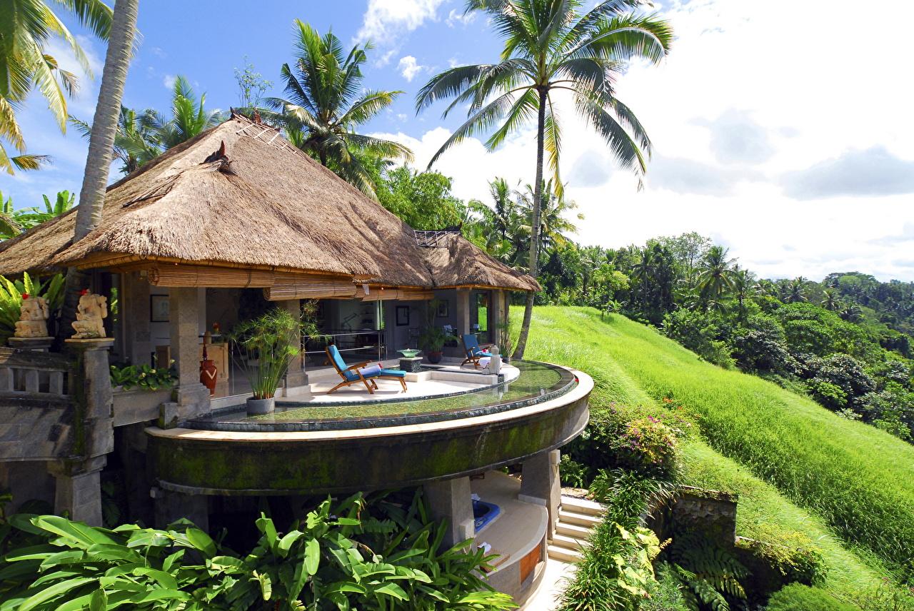 Фото Индонезия Курорты Бунгало Bali отеля Дома Города Отель Гостиница гостиницы город Здания