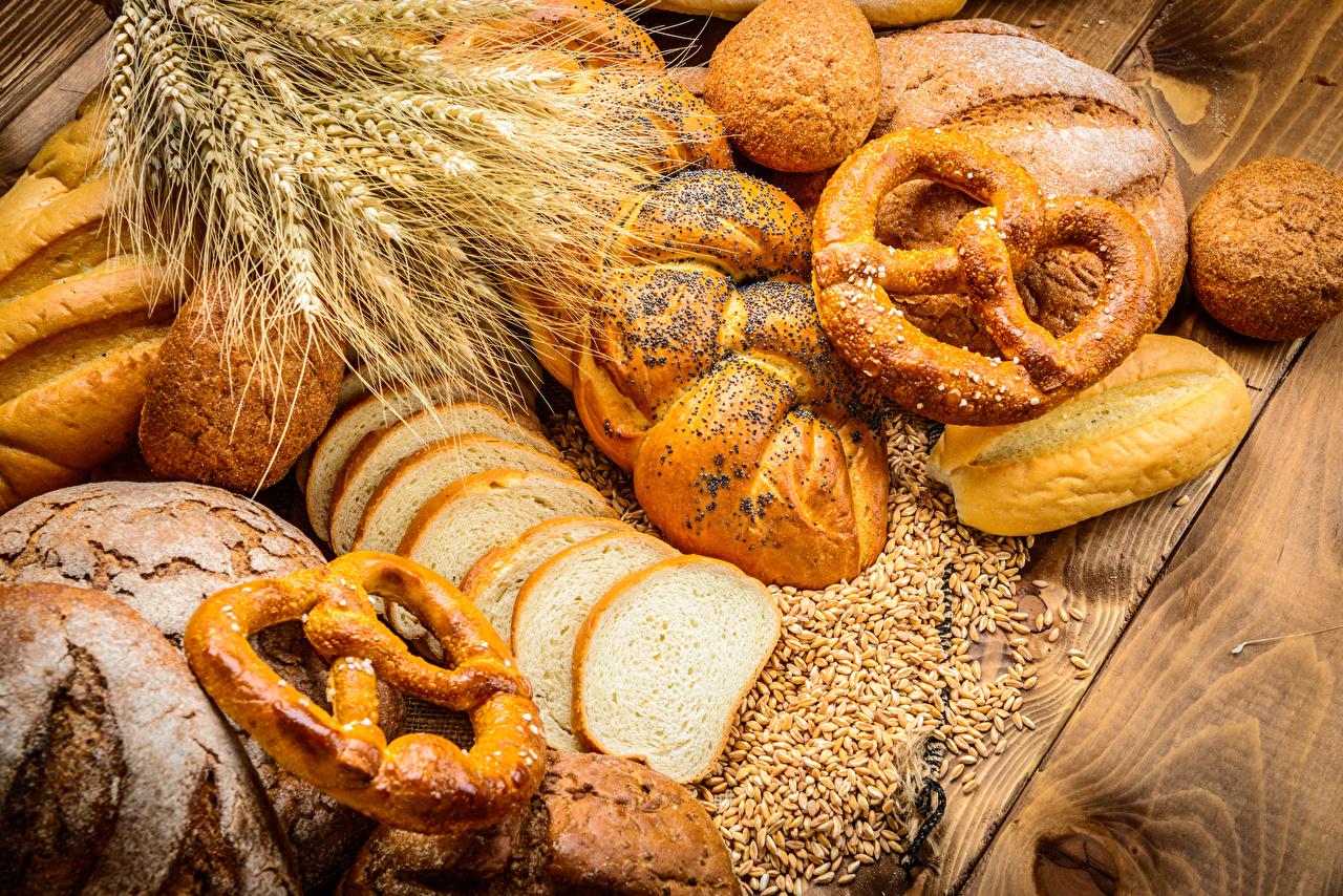 Картинка Хлеб колоски Булочки Еда Выпечка Колос колосья колосок Пища Продукты питания