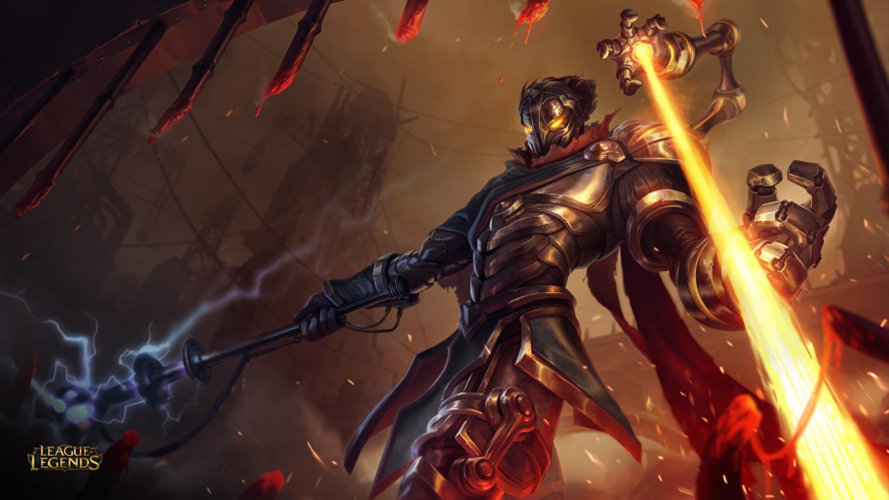 Картинки League of Legends Доспехи воин Viktor, Machine Herald, moba Фэнтези компьютерная игра LOL броня броне доспехе доспехах воины Воители Фантастика Игры