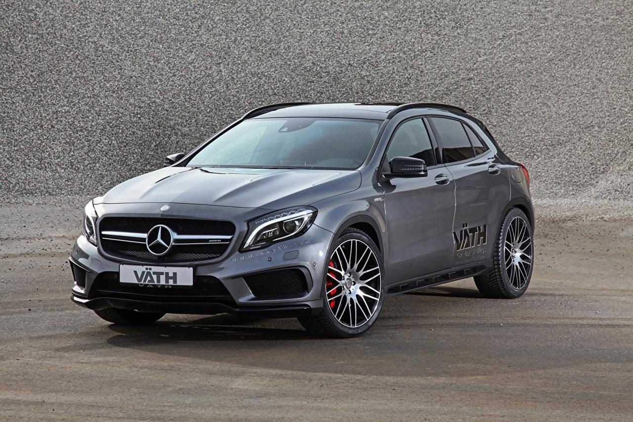 Обои для рабочего стола Mercedes-Benz X156, GLA-Class, VATH, AMG серые Автомобили Мерседес бенц Серый серая авто машина машины автомобиль