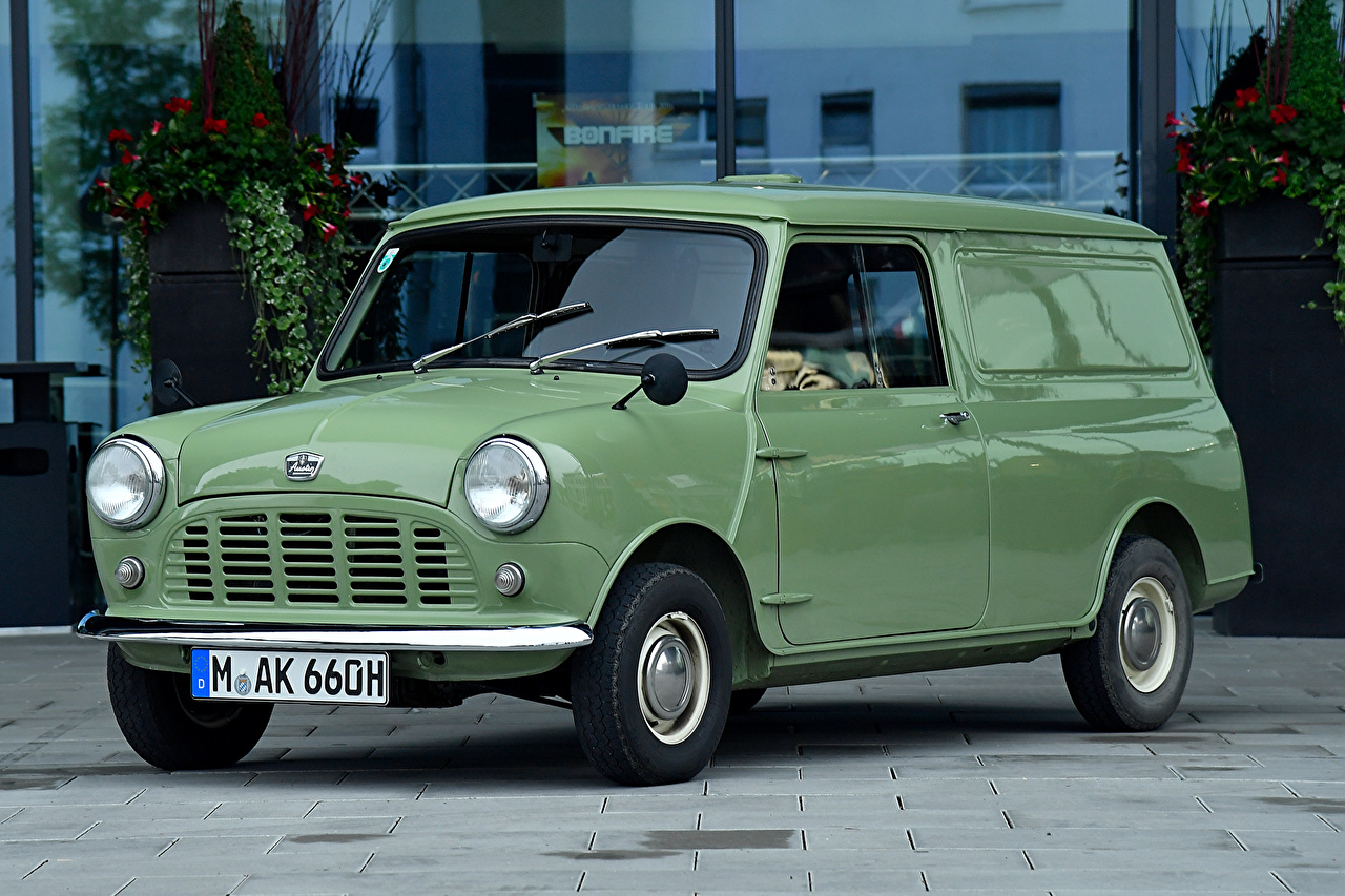 Фотографии 1960-82 Austin Mini Van винтаж Металлик Автомобили Ретро старинные авто машина машины автомобиль