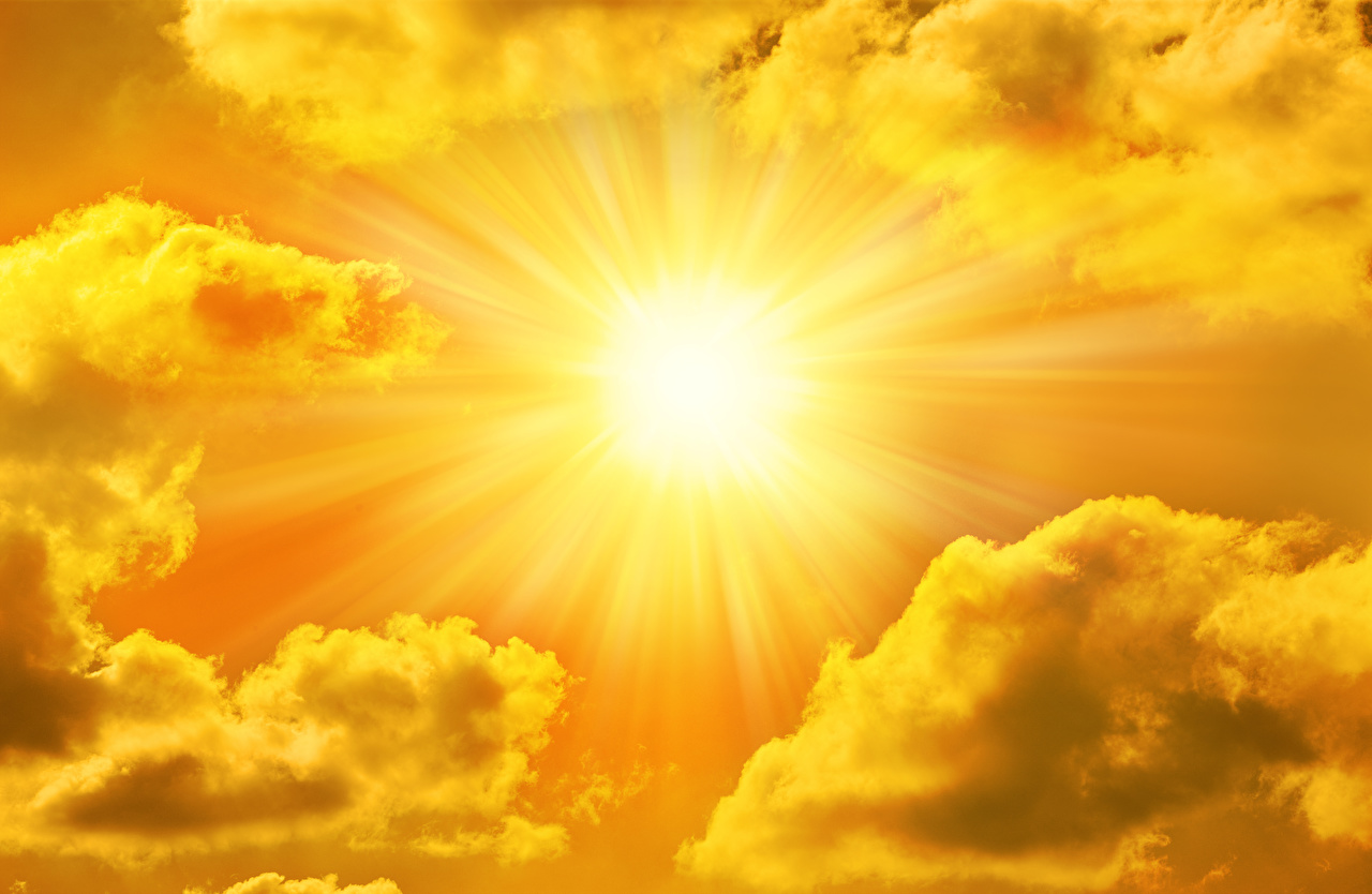 Фотография Лучи света Солнце Природа Небо Облака