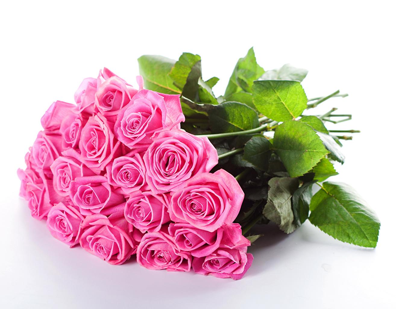 Картинка Букеты Розы розовая цветок букет роза Розовый розовые розовых Цветы