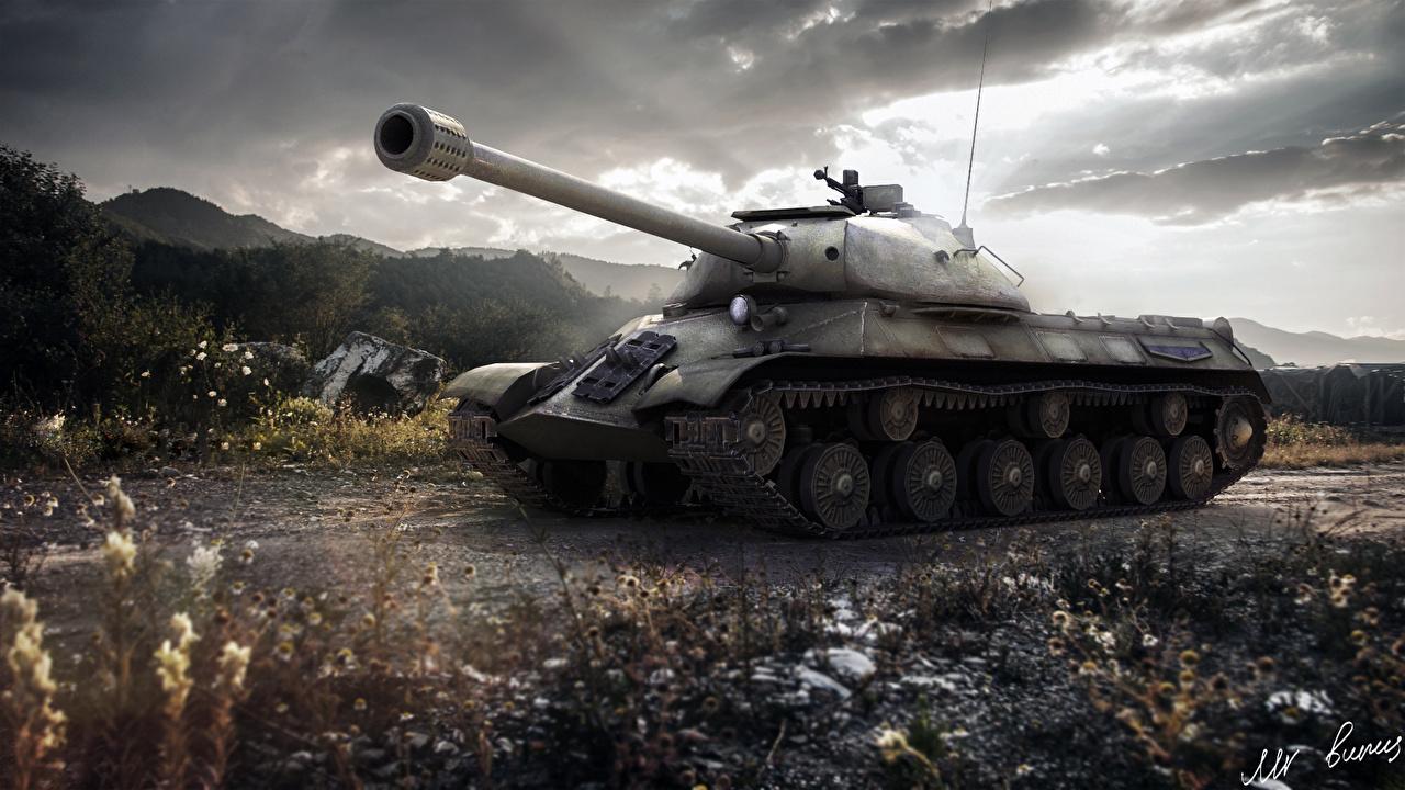 頑丈そうな戦車の壁紙