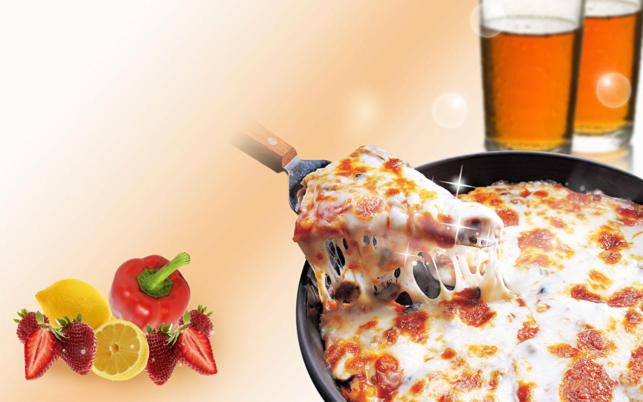 Картинки Продукты питания Пицца кусочки Еда Пища часть Кусок кусочек