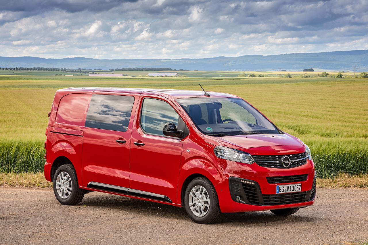 Фотографии Opel 2019-20 Vivaro CrewVan Минивэн Красный Металлик Автомобили Опель красных красные красная авто машина машины автомобиль
