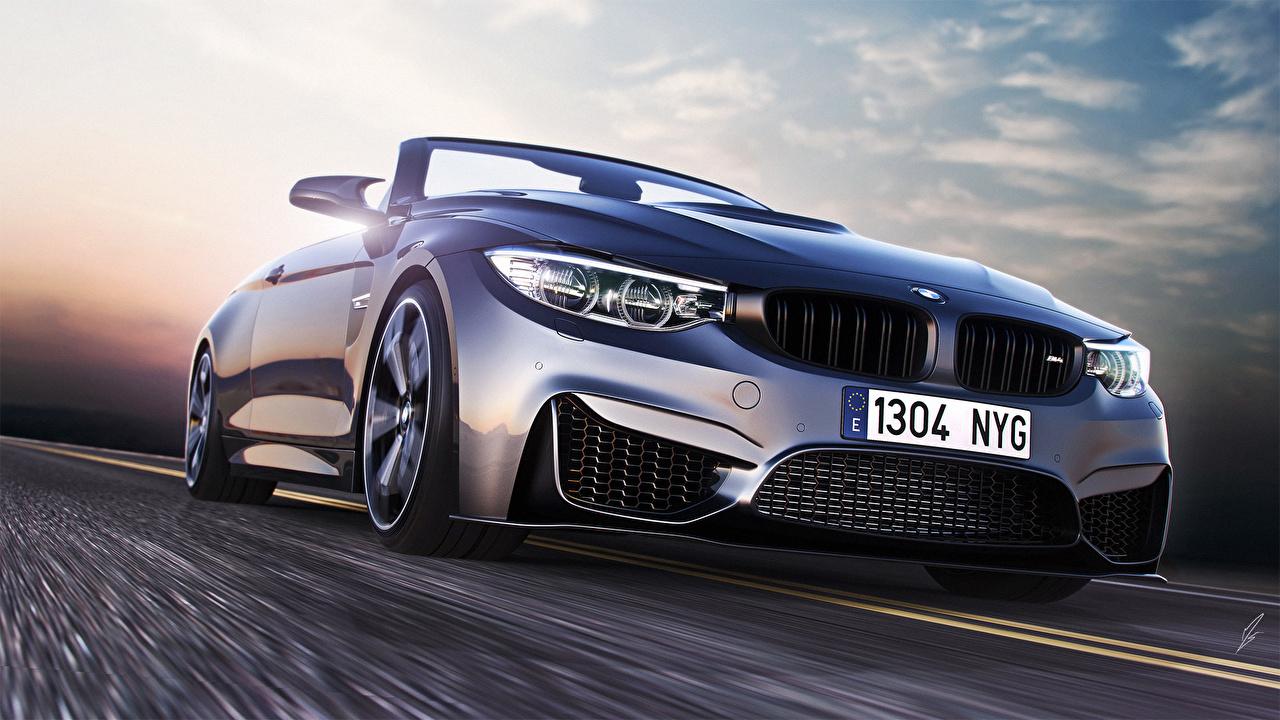 Фото БМВ Дороги фар машина BMW Фары авто машины Автомобили автомобиль