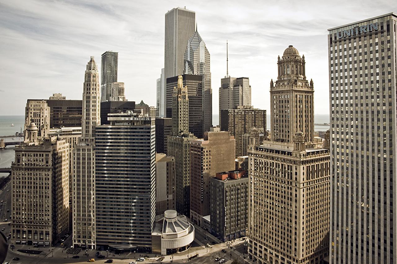 Обои америка, чикаго, высотки, небоскребы, chicago, сша, здания. Города foto 14