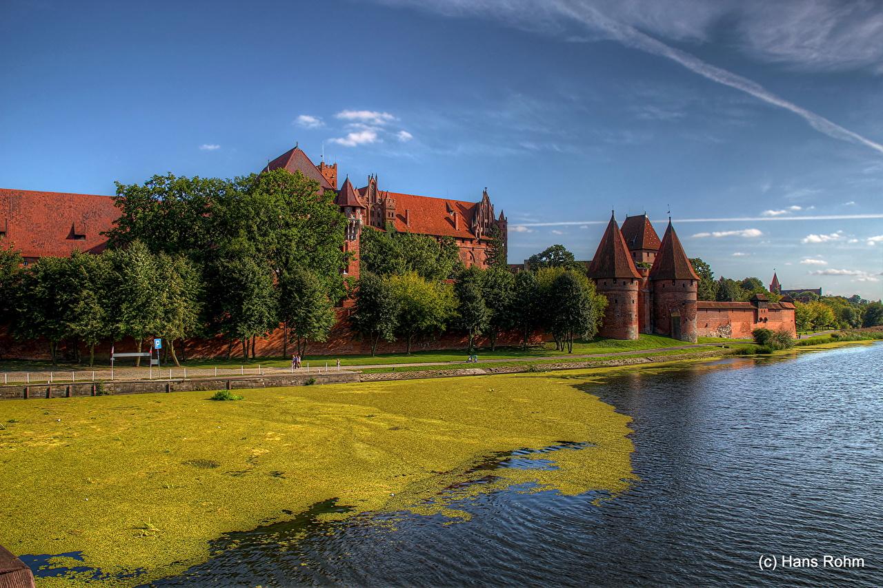 Фотография Польша Malbork Замки Города замок город