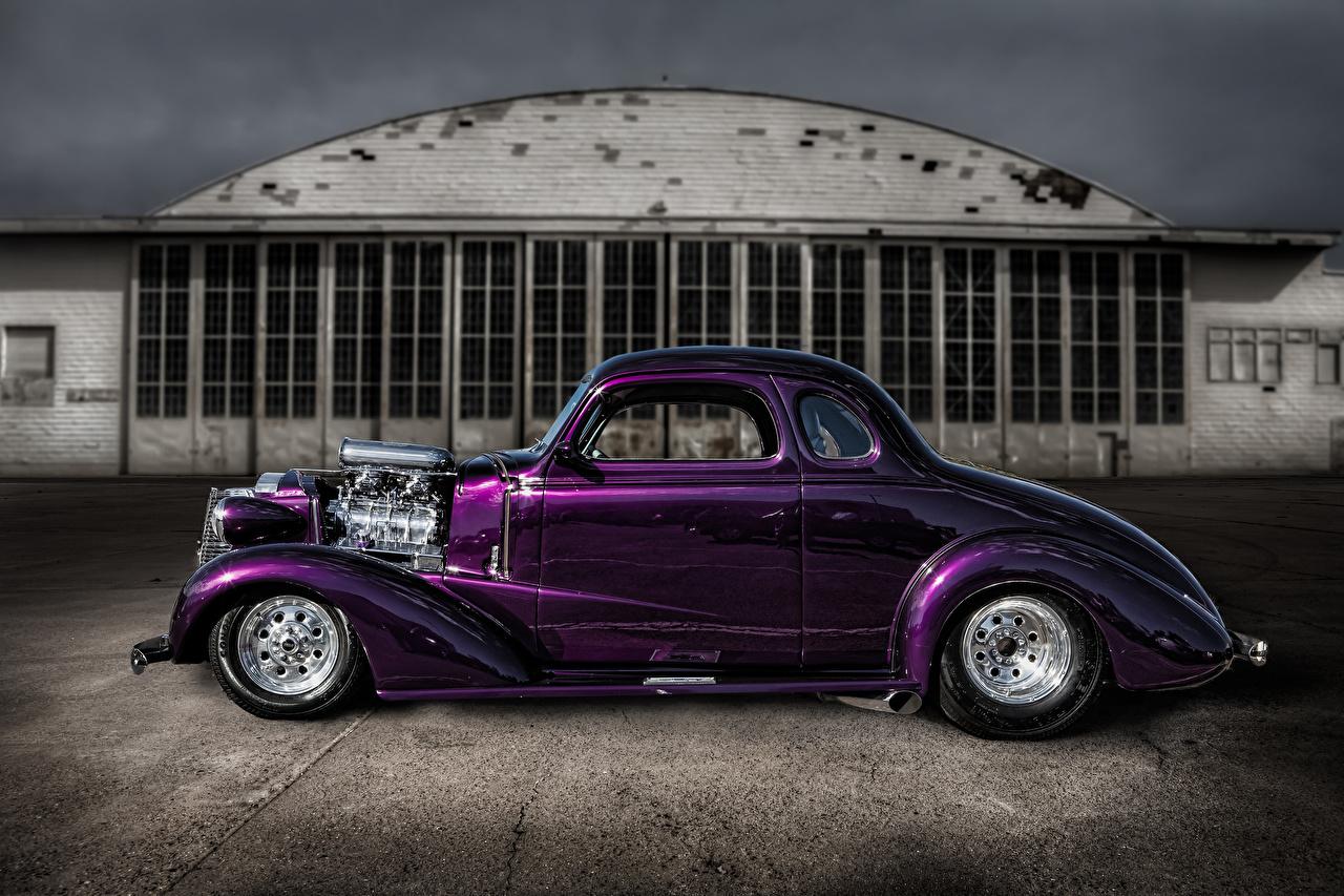 Обои для рабочего стола hot-rod Ретро фиолетовая Сбоку Автомобили винтаж старинные Фиолетовый фиолетовые фиолетовых авто машины машина автомобиль