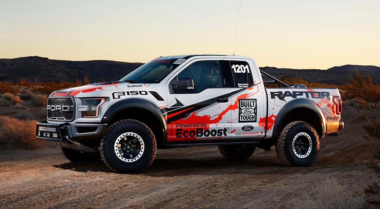 Картинка Форд F-150, Raptor, Race Truck, 2016 Пикап кузов Сбоку Автомобили Ford авто машины машина автомобиль