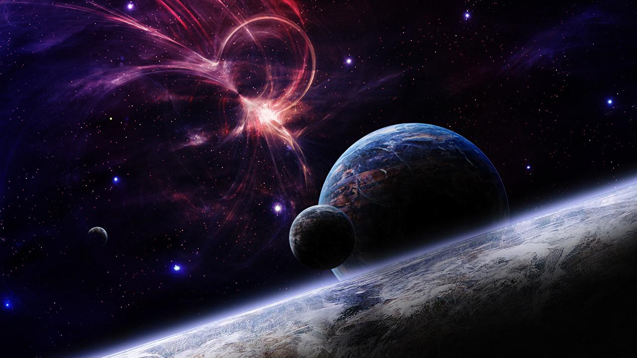 Фото планета Туманности в космосе Поверхность планеты Космос Планеты