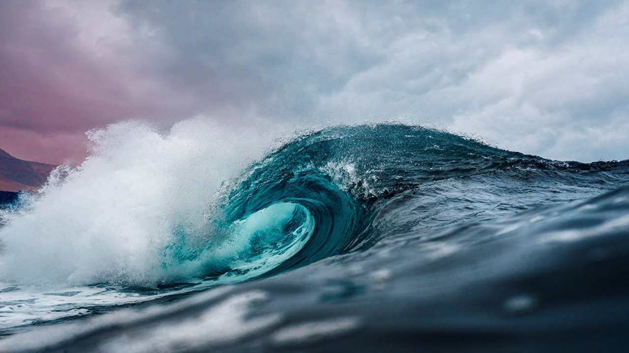 Картинки Море Океан Природа Волны воде Вода