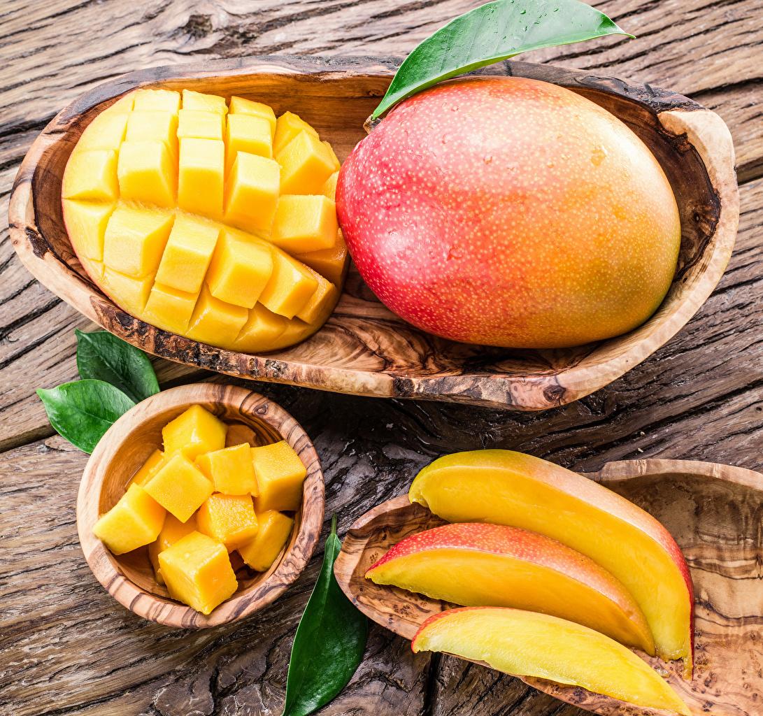 Картинки Манго часть Продукты питания Доски Кусок Еда Пища