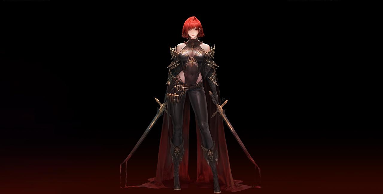 Картинка меч рыжие воины крови Daeho Cha, Oceans Красивые Фэнтези молодые женщины Мечи меча с мечом Рыжая рыжих воин Воители Кровь красивая красивый девушка Девушки Фантастика молодая женщина