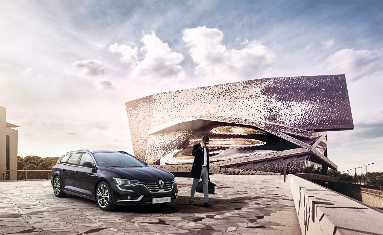 Фотографии Рено 2015 Talisman Estate Initiale Paris Серый Автомобили Renault Авто Машины