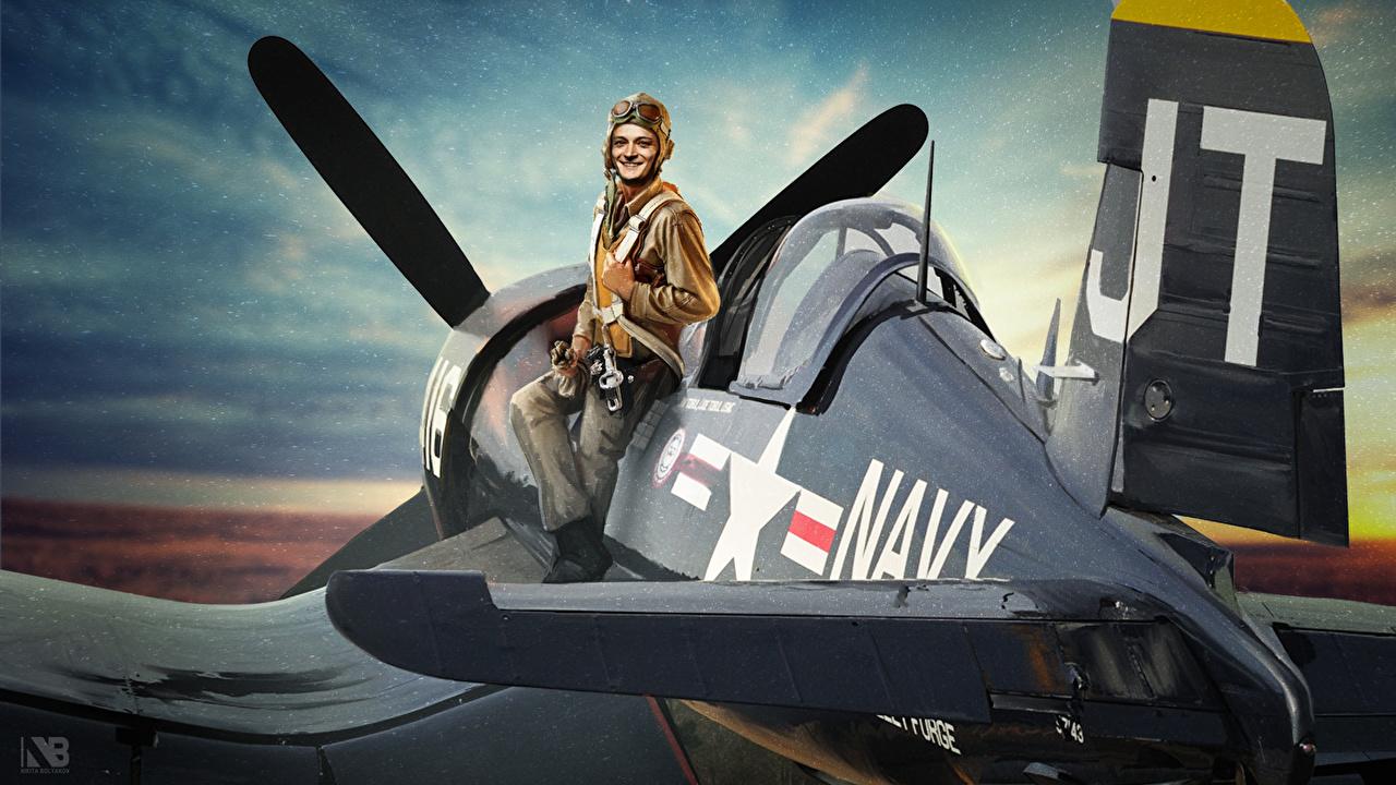 Фото World of Warplanes Nikita Bolyakov Самолеты Lionya Игры Рисованные компьютерная игра