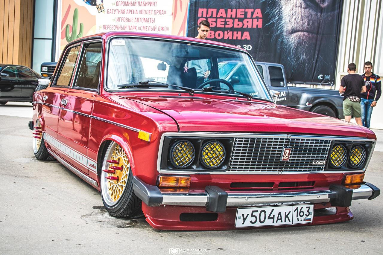 Обои Лада Тюнинг Российские авто 2106 Красный Авто Стайлинг Машины Автомобили