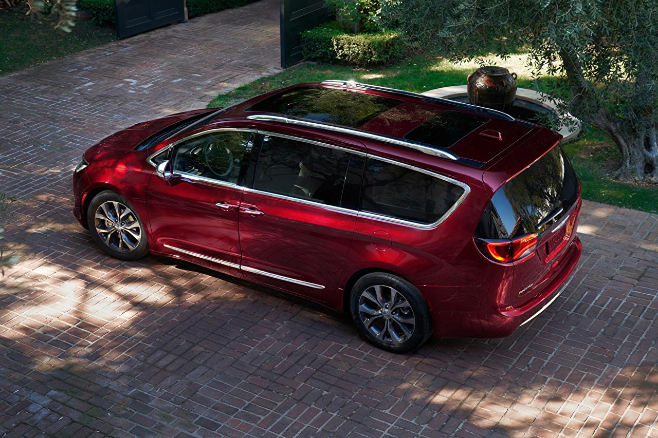 Картинка Chrysler 2016 Pacifica бордовая Металлик Автомобили Крайслер Бордовый бордовые темно красный авто машина машины автомобиль