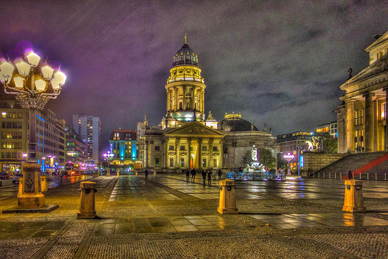 Обои германия, berlin, ночь, фонари, улица. Города foto 14