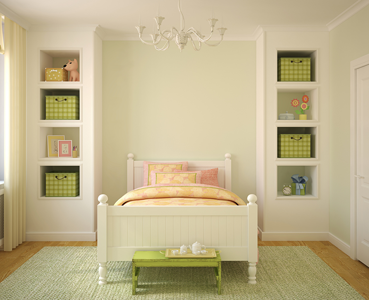 Фотографии Детская комната Интерьер Кровать Дизайн