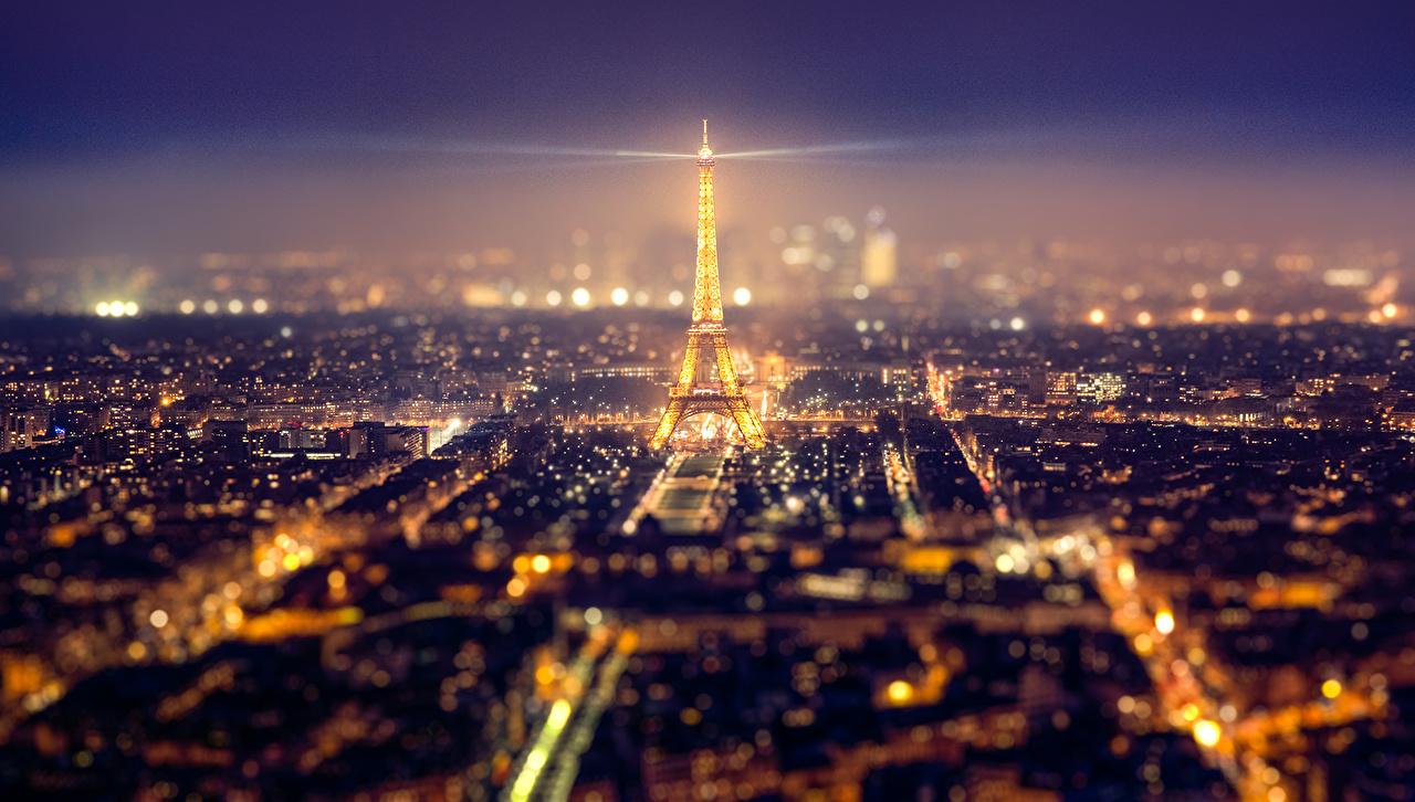 Обои ночной париж. Города foto 19