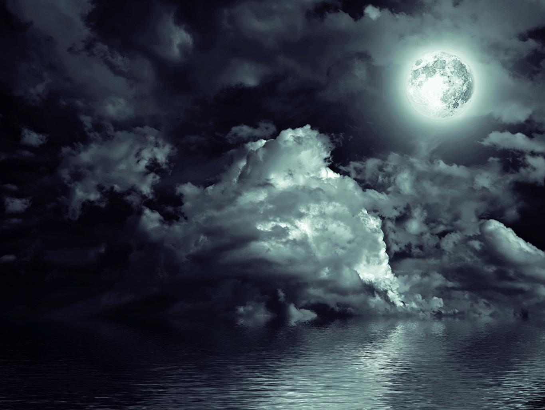 Обои Облака, ночь. Природа foto 9