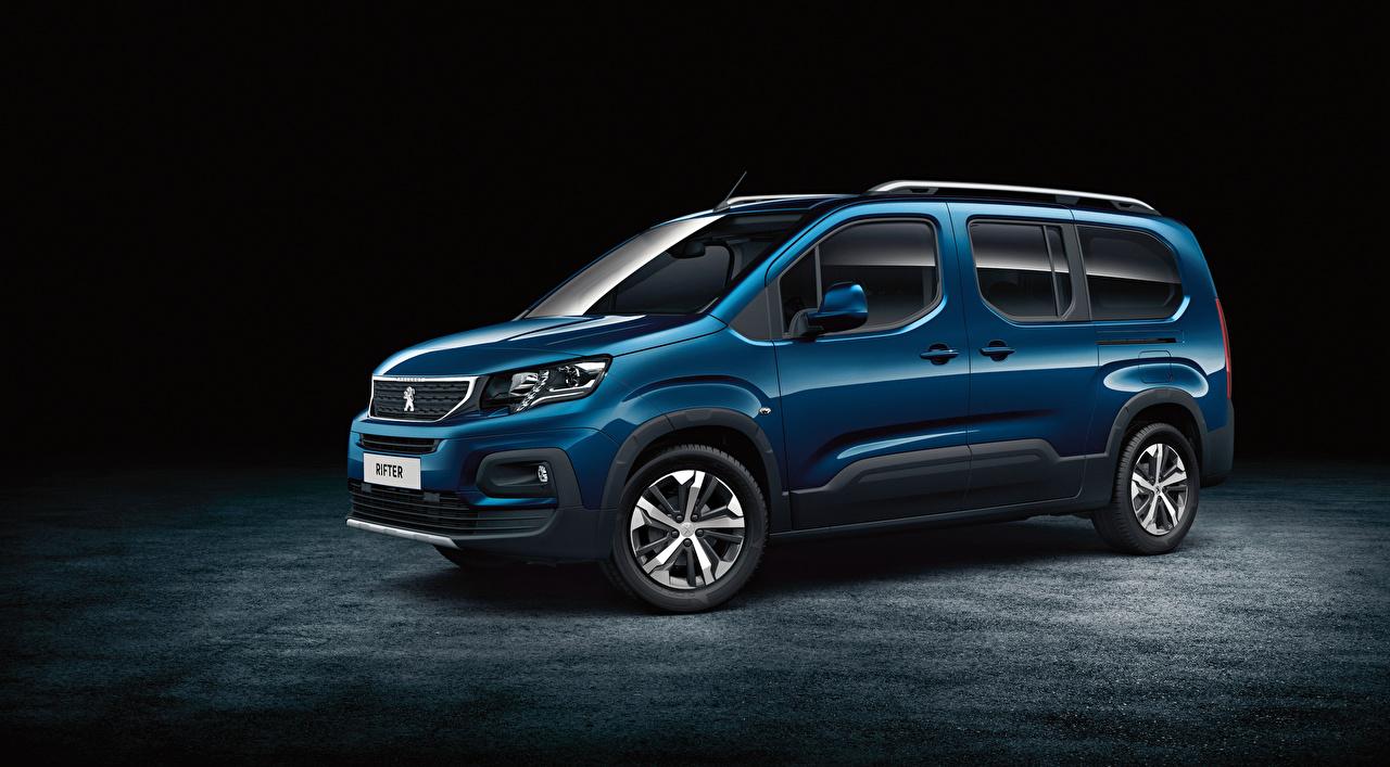 Фотографии Peugeot 2018 Rifter Long Worldwide Синий Металлик Автомобили Пежо Авто Машины