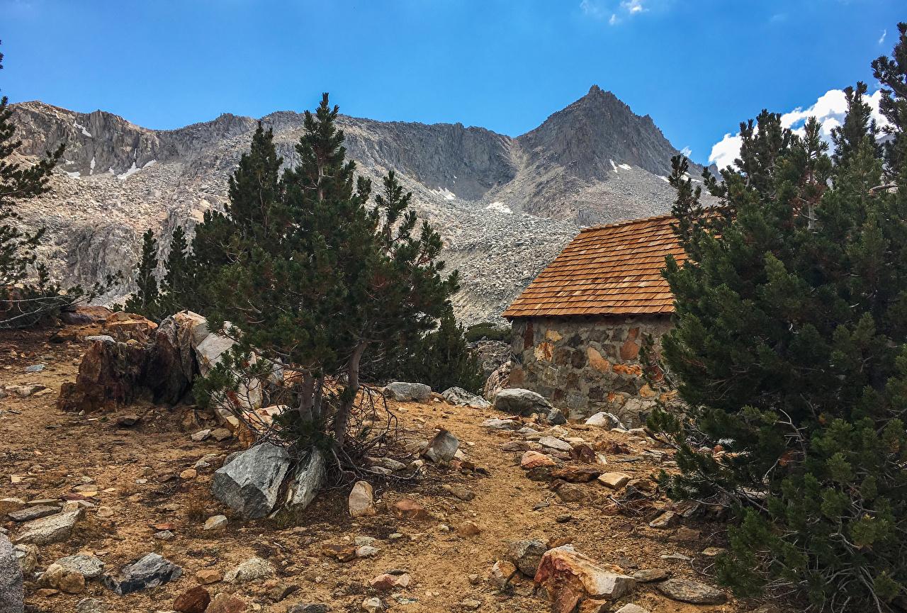 Обои Калифорния США Bishop Горы Природа Камни штаты Камень