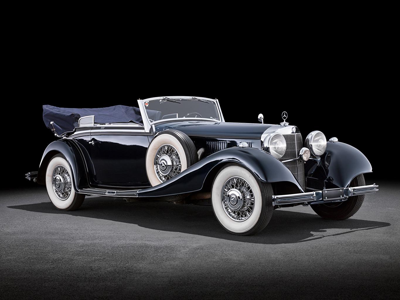 Фотография Mercedes-Benz 500K Cabriolet B (W29), 1934–36 Ретро автомобиль Мерседес бенц винтаж старинные авто машины машина Автомобили