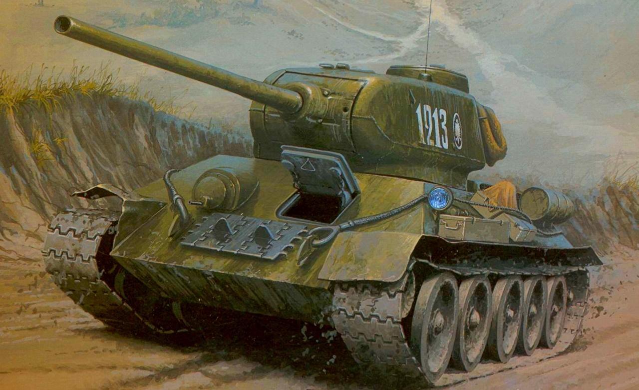 Картинки Т-34 танк T-34-85 Армия Танки военные