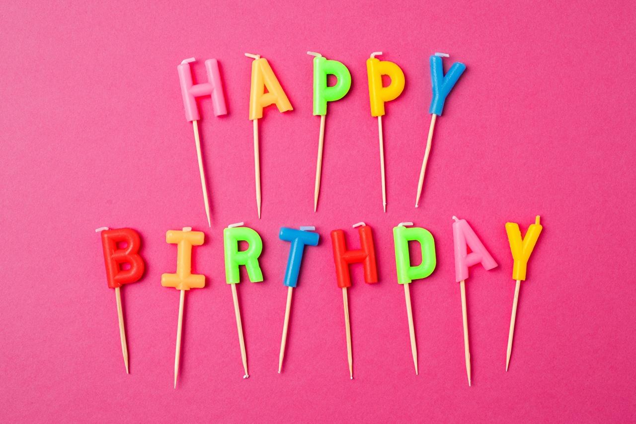 Фото День рождения инглийские текст Праздники Английский английская слова Слово - Надпись