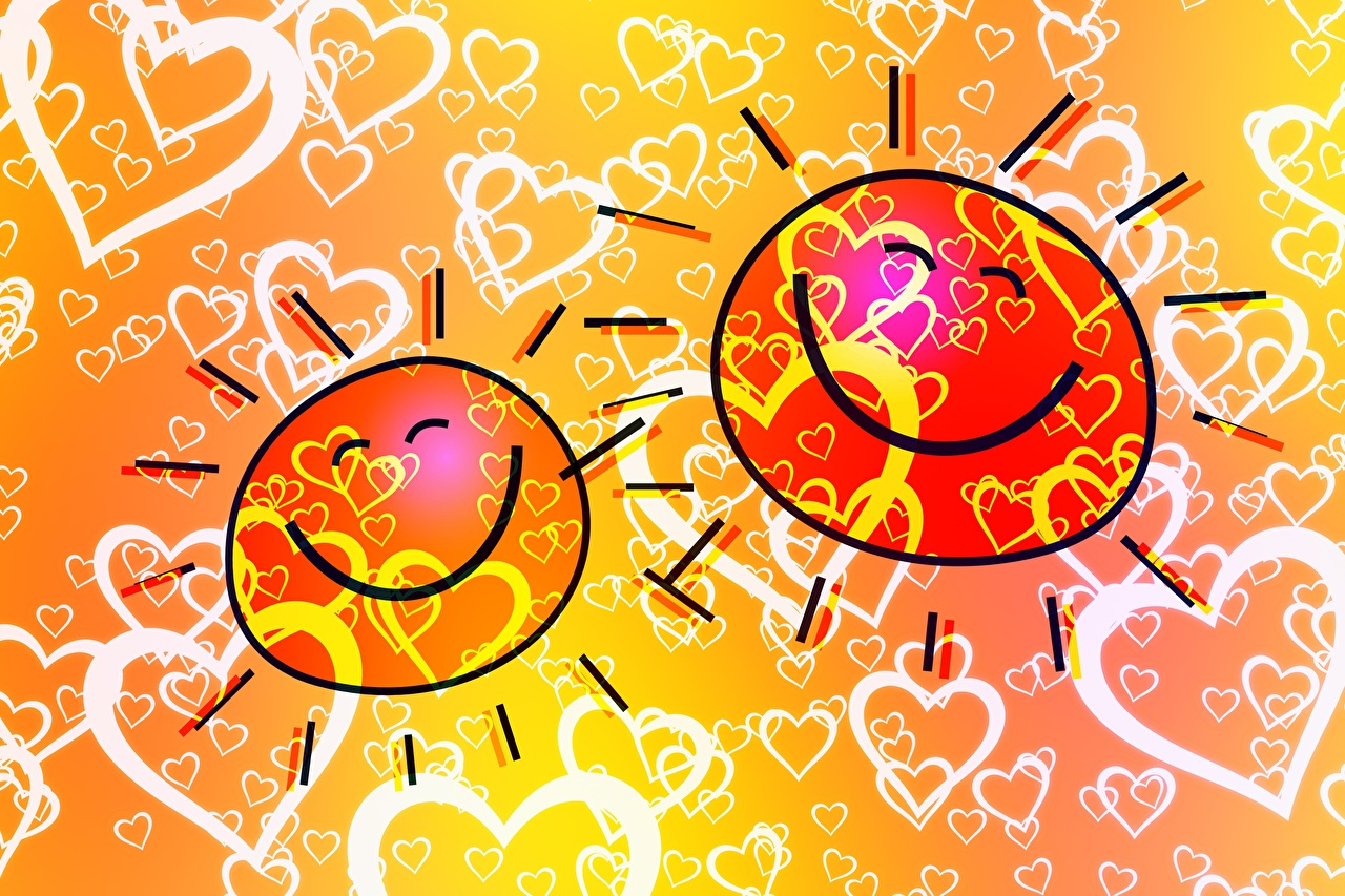 Картинки Сердце Улыбка Радость Солнце